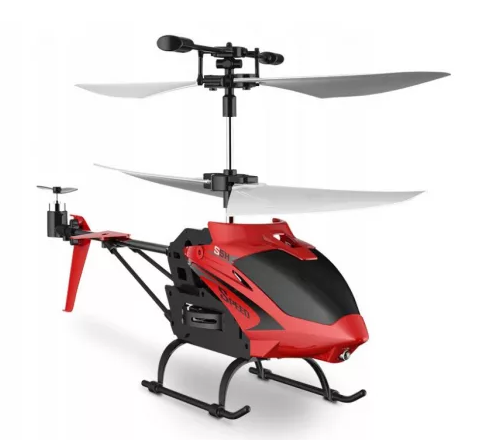 RC helikopter piros